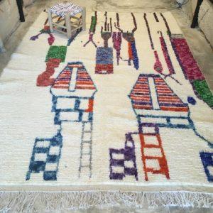 Azilal n2007 - Manhattan, tapis, morocco, deco, marrakech, rug, design, colorés, motifs, fond, blanc