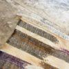 Kilim n°2015 - Pinceau, tapis marocain, handmade, blanc, vert, mauve, wool, tressé à plat, artisanat du maroc, home, salon moderne, interior design