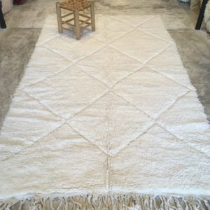Beni ouarain n2031 - Blanche colombe, tapis, deco, morocco, rug, design, marrakech