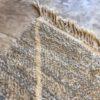 Beni Ouarain N°2026 - Riz au lait, tapis en laine, blanc et gris, handmade in morocco, atlas mountain rugs, deco, home, salon contemporain, artisanat du marrakech