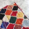 Boucherouite n°365 - Playschool, tapis en coton, multicolors, handmade, atlas mountains rugs, deco, home, furniture, kids room, atisanat de marrakech, berber rugs