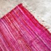 Kilim boucherouite 409 - Fushia, rose, chute de coton, Marrakech, girls