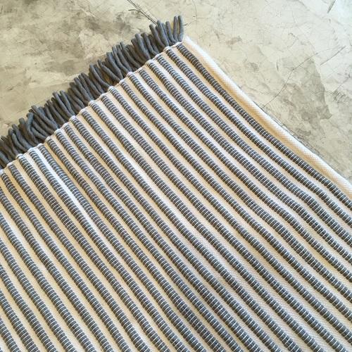 Kilim N°488 - Grigri, tapis en coton, blanc et gris, couloir, descentes de lit, tapis de chambre, marrakine, design intérieur