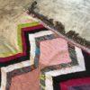 Kilim Boucherouite N°526 - Pop, tapis en coton, fabriqué à la main par des femmes berbères, marrakech artisanat, décor, salon