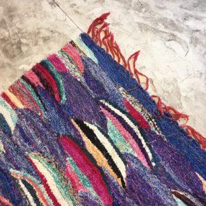 kilim boucherouite N°615 - Gondole, tapis coton, coloré, room rug, tapis d'entrée, décor marocain, handmade rugs, marrakech