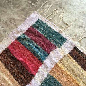 kilim boucherouite N°648 - Beaubourg, tapis ras, multicolor, artisanat de marrakech, maroc, berber rug, yellow rug, cotton rug