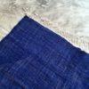Kilim boucherouite N°679 - Santorin, tapis deco, headof the bed, Greece, moroccan handicrafts, bleue rug, design intérieur