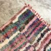 Boucherouite n°718 - Guirlande, tapis en coton, rose, fait main, moroccan rug, new style of rugs, contemporain, chambre des filles, deco, home, design d'intérieur, man crafts, marrakech artisanat