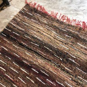 Kilim boucherouite N°740 - Cappuccino, tapis ras en coton, hand woven rug, moroccan handcrafts, Atlas mountains rugs, deco