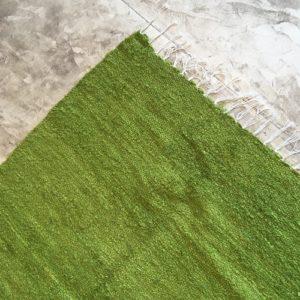 Kilim boucherouite N°814 - Anis, tapis en coton, marocain, marrakech artisanat, deco, home rug, vert, pomme, design d'intérieur