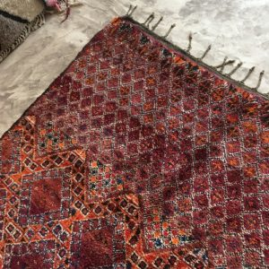 Zayane n°884 - Flamboyant, tapis marocain,multicolors, vintage handmade rug, wool, zemmour city, tapis de moyen atlas montagne, decoration, home interior design, salon marocain