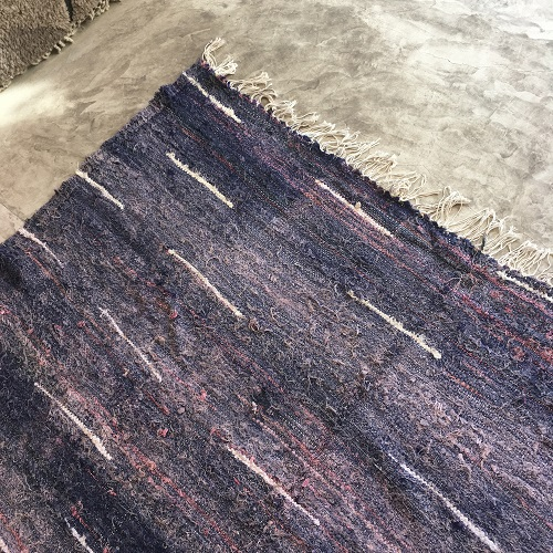 Kilim Boucherouite N°869 - Iris, tapis violet, blue, salon, maroc, atlas montagnes tapis, beldi, deco, modern