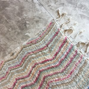 Boujaad n°921 - Barbe à papa, tapis en laine, moroccan rug, runner, pastel color, made of wool, berber rugs, Atlas mountains rugs, deco, home, furniture, design d'intérieur, man crafts