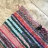 Kilim Boucherouite n°945 - Chili, tapis en coton, multicolors, hand woven, descentes de lit, décoration mural, architecture d'intérieur