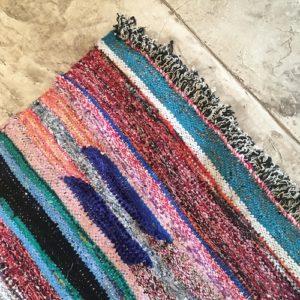 Kilim Boucherouite n°944 - Pérou, tapis berbère, multicolor, rag rug, recycled coton scraps, deco, interior design, tableau, marrakech, artisanal crafts
