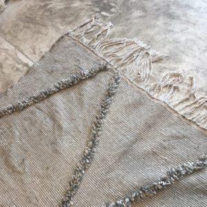 zanafi N°343 - Paturage, vert d'eau foncé, tapis fin tapis marocain