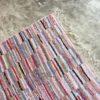 Boucherouite n°234 - Sucre d'orge, tapis marocain, chutes de coton, coloré, handmade, deco, tapis chambre, kids room, hall, garden, colored rag rug