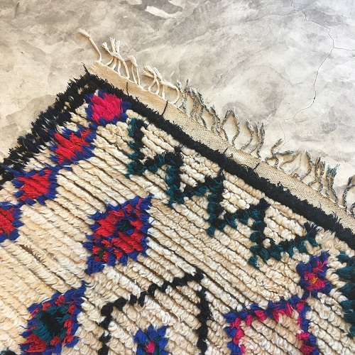 Azilal nA1039 - Tomagotchi, tapis marocain, handwoven, coloré, sheep wool, deco, artisanat du Marrakech