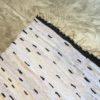 Kilm boucherouite n°148 - Chérie, pois noir blanc marrakine coton, handmade rug, contemporain decoration, home, artisanat, design d'intérieur