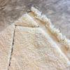 Beni ouarain n981- Santa cruz, blanc, brodé, laine, épais, handmade, knotted, marrakech, morocco rug