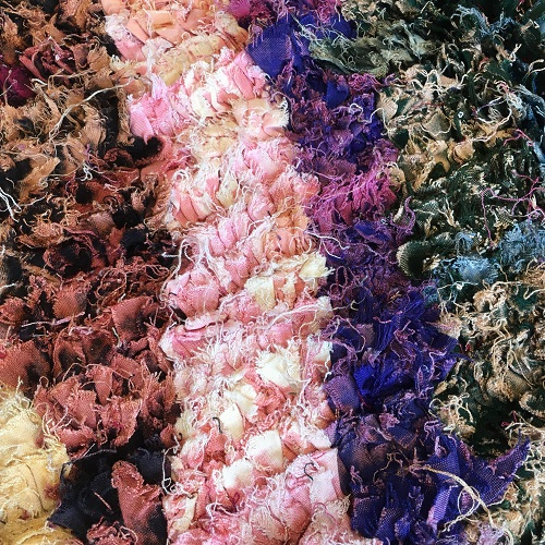Boucherouite n°994 - Wonderland, tapis berbère, chutes de coton, fabriqué artisanalement au moyen, atlas montagnes, coloré, traditional handmade, deco, home, salon moderne, crafts of morocco