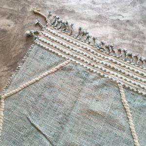 Zanafi N°1003 - Vert d'eau, couleur vert menthe, tapis en laine tressé à plat, hand woven in Morocco, rug, deco & design, marrakech artisanat, home