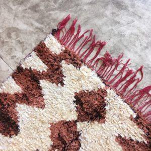 Boucherouite n°992 - Noisette, tapis en coton, rose, fait main, moroccan rug, new style of rugs, contemporain, chambre des filles, deco, home, design d'intérieur, man crafts, marrakech artisanat