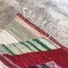 Kilim Boucherouite N°988 - Grand canyon, blanc, couleurs vives, tapis en chutes de coton, colored rug, made in morocco, design intérieur, home & deco,