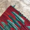 Kilim Boucherouite N°989 - Cactuseraie, rouge, vert, tapis en chutes de coton, colored rug, made in morocco, design intérieur, home & deco,