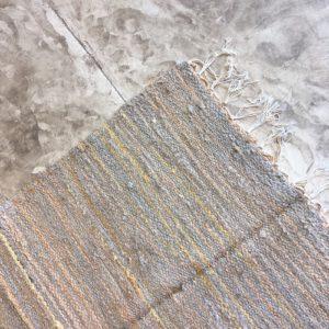 Kilim boucherouite N°996 - Citrine, tapis en gris et jaune, en coton, home & deco, room rug, tapis marocain, handmade, marrakech