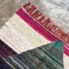 Kilim Boucherouite N°990 - Visage pale, tapis en chutes de coton, colored rug, made in morocco, design intérieur, home & deco,