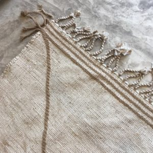 Zanafi N°1014 - Amande, beige amande, tapis en laine tressé à plat, hand woven in Morocco, rug, deco & design, marrakech artisanat, home
