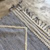 Zanafi N°1015, Océan, bleu, tapis en laine tressé à plat, hand woven in Morocco, rug, deco & design, marrakech artisanat, home