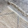 Beni Ouarain N°1022 - Perle, tapis en laine, blanc et gris, handmade in morocco, atlas mountain rugs, deco, home, salon contemporain, artisanat du marrakech