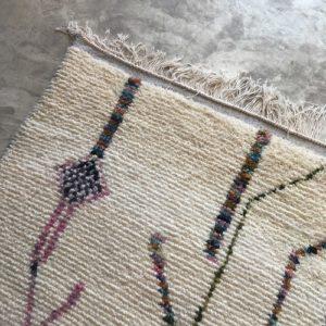 Azilal n1038 - Bronze, tapis marocain, épais, handmade rug, tapis de haut d'atlas montages, artisanat du marrakech, wool, motifs berbère, blanc, marron, multicolors, smooth, deco