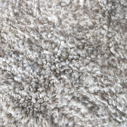 Beni ouarain n1047 - Souris, blanc, beige et gris, laine, épais, handmade, knotted, marrakech, morocco rug