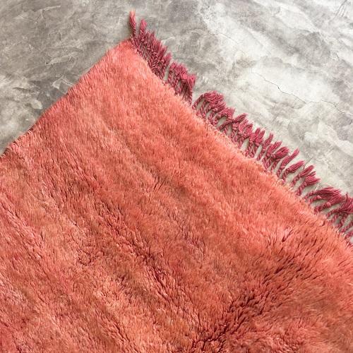 Beni Ouarain n°1051 - Blush, tapis marocain, laine, dégradé de saumon et jaune, home, interior design, furniture, salon contemporain, handmade in morocco, artisanat