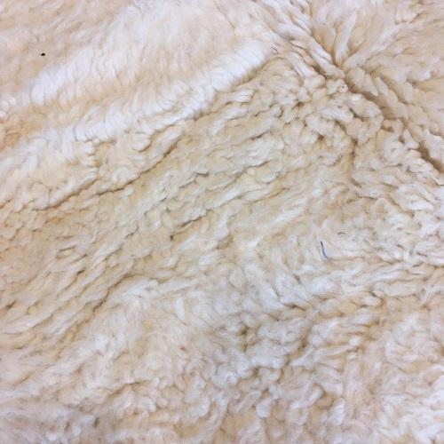 Beni ouarain n1063- White spirit, blanc, uni, laine, épais, handmade, knotted, marrakech, morocco rug