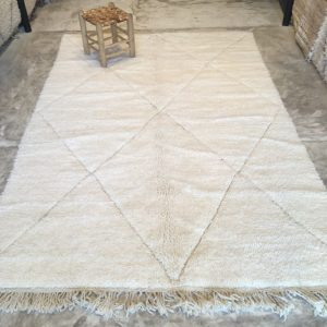 Beni ouarain n1061 - Blanche colombe, tapis, deco, morocco, rug, design, marrakech