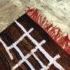 Kilim boucherouite n°1085 - Marbré, tapis en chutes de coton, dégradé du marron, blanc, handmade, contemporain artisanat, marocain, salon, chambre deco, home design d'intérieur, marrakech rugs, tapis berbère