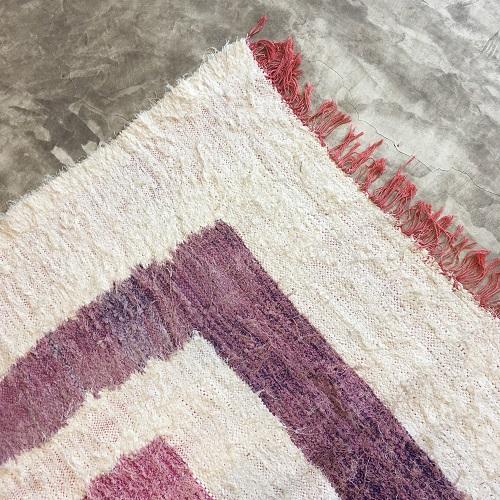 Kilim Boucherouite N°1084 - Uno, tapis en chutes de coton, colored rug, made in morocco, design intérieur, home & deco,