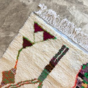 Azilal n1091 - Tattoo, tapis marocain, handwoven, coloré, sheep wool, deco, artisanat du Marrakech