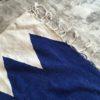 Kilim n1095 - Santorin, bleu, blanc, tapis en laine tressé à plat, hand woven in Morocco, rug, deco & design, marrakech artisanat, home