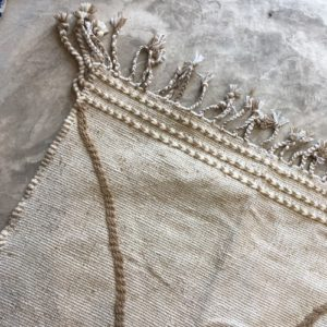 Zanafi N°1094 - Amande, beige amande, tapis en laine tressé à plat, hand woven in Morocco, rug, deco & design, marrakech artisanat, home