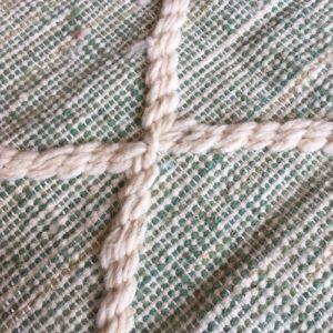 Zanafi N°1116 - Pistache, vert d'eau, tapis en laine tressé à plat, hand woven in Morocco, rug, deco & design, marrakech artisanat, home