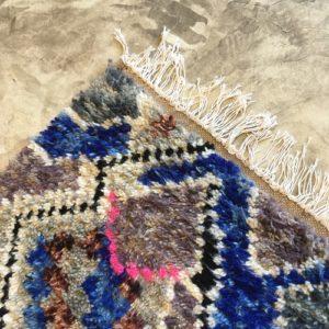 Azilal n1128 - Prusse, tapis marocain, handwoven, coloré, sheep wool, deco, artisanat du Marrakech