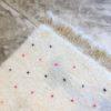 Beni Ouarain N°1111 - Dragibus, tapis marocain, wool, handmade by berber women, deco & home, design d'intérieur, artisanalement fabrique au maroc, marrakech, blanc et pois colorés