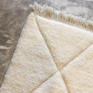 Beni ouarain n1109 - Bianco, tapis, marrakech, design intérieur, morocco, rug, deco