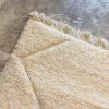 Beni ouarain n1151 - Blanche Neige, blanc, uni, laine, épais, handmade, knotted, marrakech, morocco rug