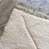 Beni ouarain n1155 - Blanche Neige, blanc, uni, laine, épais, handmade, knotted, marrakech, morocco rug